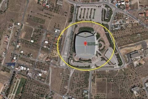 Το γήπεδο της ΑΕΚ στα Λιόσια όπως αποτυπώνεται στο Google Maps