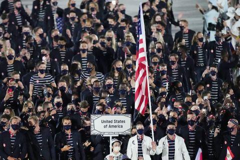 Η παρέλαση της Team USA στους Ολυμπιακούς Αγώνες του Τόκιο 2020