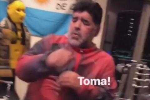 VIDEO: Ο Μαραντόνα δίνει ρεσιτάλ χορού κάνοντας γυμναστική