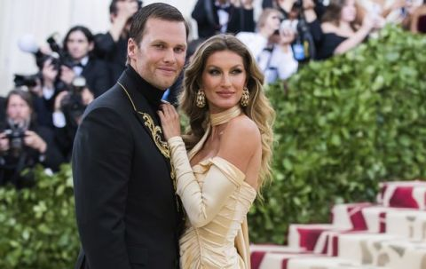 Tom Brady and Gisele Bundchen attend The Metropolitan Museum of Art's Costume Institute benefit gala celebrating the opening of the Heavenly Bodies: Fashion and the Catholic Imagination exhibition on Monday, May 7, 2018, in New York. (Photo by Charles Sykes/Invision/AP)