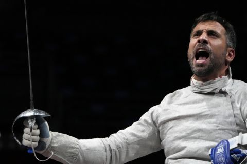 Ο Παναγιώτης Τριανταφύλλου μετά τη νίκη που του χάρισε το μετάλλιο στους Παραολυμπιακούς Αγώνες