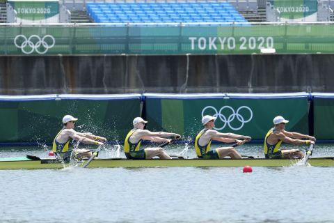 Η Αυστραλία κυριάρχησε και στην τετράκωπο των ανδρών αφού η βάρκα της πέρασε πρώτη τη γραμμή του τερματισμού στους Ολυμπιακούς Αγώνες