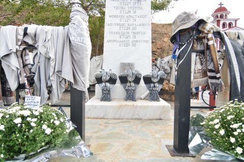 Το μνημείο στα Τέμπη για τους φιλάθλους του ΠΑΟΚ