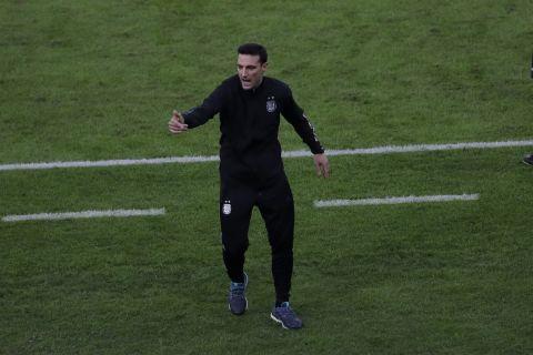 Ο ομοσπονδιακός προπονητής της εθνικής Αργεντινής, Λιονέλ Σκαλονι, κατά τη διάρκεια του τελικού του Copa America με την Αργεντινή   10 Ιουλίου 2021