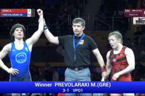 Χάλκινο μετάλλιο για την Πρεβολαράκη στο Ευρωπαϊκό Πρωτάθλημα