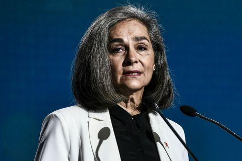 Η εκπρόσωπος του ΜέΡΑ 25, Σοφία Σακοράφα, στο 13ο τακτικό συνέδριο της Νέας Δημοκρατίας | Σάββατο 30 Νοεμβρίου 2019
