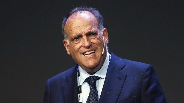 Javier Tebas, La Liga president/AP_19317583596562.jpg