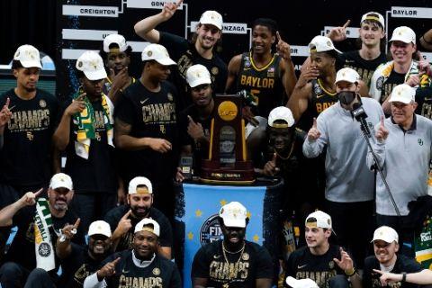Το Baylor πανηγυρίζει τον τίτλο του NCAA