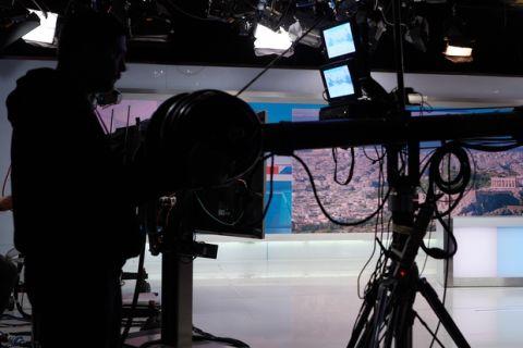 """Συνέντευξη του Προέδρου της Νέας Δημοκρατίας Κυριάκου Μητσοτάκη, το Σάββατο 6 Μαΐου 2017, στην εκπομπή """"Καλημέρα"""" του τηλεοπτικού σταθμού ΣΚΑΪ και το δημοσιογράφο Γιώργο Αυτιά. (EUROKINISSI/ΓΡΑΦΕΙΟ ΤΥΠΟΥ ΝΔ/ΔΗΜΗΤΡΗΣ ΠΑΠΑΜΗΤΣΟΣ)"""