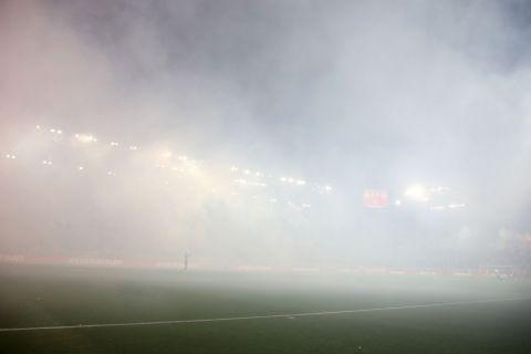 Η ομίχλη στο Ολυμπιακός - Παναθηναϊκός εξαιτίας καπνογόνων
