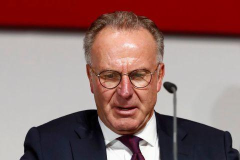 Ο εκτελεστικός διευθυντής της Μπάγερν, Καρλ Χάιντς Ρουμενίγκε, σε στιγμιότυπο της ετήσιας γενικής συνέλευσης στο Μόναχο   Δευτέρα 27 Ιουλίου 2020