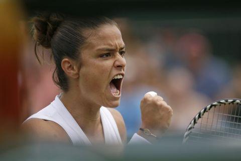 Η Μαρία Σάκκαρη σε αγώνα της στο Wimbledon