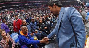 Mayweather – Pacquiao: Συναντήθηκαν ξανά σε αγώνα NBA!