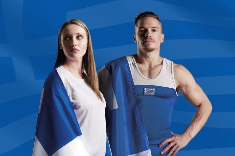 Η Άννα Κορακάκη και ο Λευτέρης Πετρούνιας ήταν οι σημαιοφόροι της Ελληνικής αποστολής στην Τελετή Έναρξης των Ολυμπιακών Αγώνων