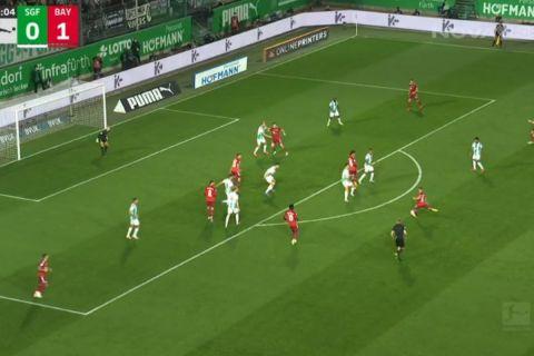 Ο Κίμιχ έκανε με αψεγάδιαστο πλασέ το 2-0 για την Μπάγερν κόντρα στην Γκρόιτερ Φιρτ