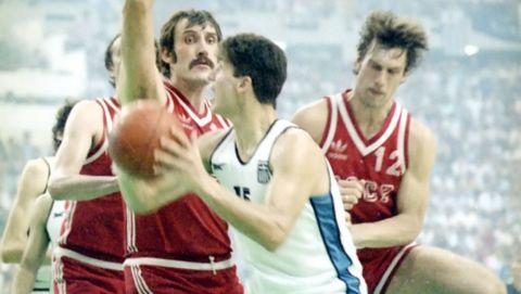 Ο Μαρτσουλιόνις σε φάση από τον τελικό του EuroBasket 1987