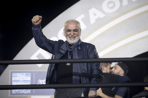 Ο Ιβάν Σαββίδης στη φιέστα του ΠΑΟΚ για την κατάκτηση του πρωταθλήματος