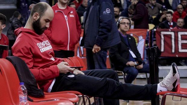 Ολυμπιακός: Έως και 6 μήνες έξω ο Σπανούλης, τη Δευτέρα το χειρουργείο