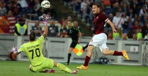 31/05/2015, ROMA vs PALERMO (Serie A) NELLA FOTO : IL GOL DEL 1-1 DI TOTTI (Foto Bartoletti)