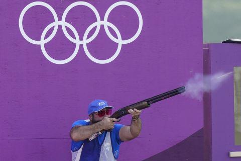 Ο Νίκος Μαυρομμάτης σε στιγμιότυπο της προπόνησής του για τα προκριματικά του σκητ των Ολυμπιακών Αγώνων 2020 | Πέμπτη 22 Ιουλίου 2021