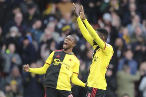 Οι παίκτες της Γουότφορντ πανηγυρίζουν γκολ που σημείωσαν στην Premier League