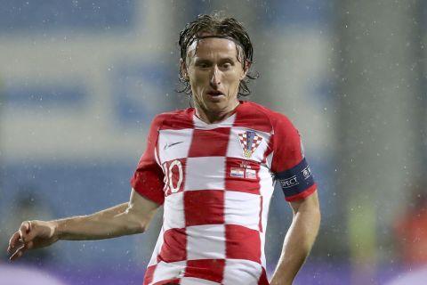 Ο Λούκα Μόντρις σε αγώνα της Εθνικής Κροατίας