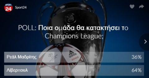 Ψηφοφορία τέλος: Αυτή η ομάδα θα κατακτήσει το Champions League!