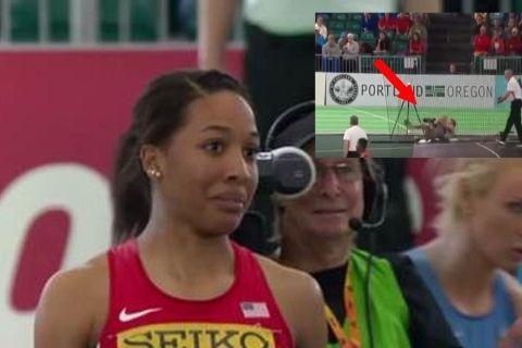 ΑΟΥΤΣ! Αθλήτρια πεντάθλου έστειλε την σφαίρα πάνω σε φωτογράφο!