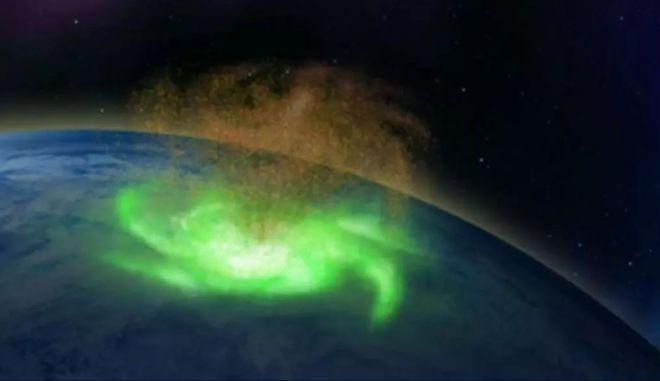 Για πρώτη φορά διαστημικός τυφώνας παρατηρήθηκε πάνω από τη Γη