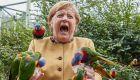 Η βόλτα της Μέρκελ σε πάρκο πτηνών δεν πήγε καθόλου καλά